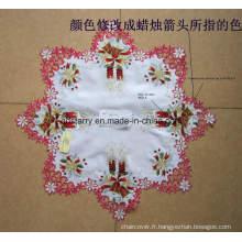 St1743 Étoffe de table étoile de Noël