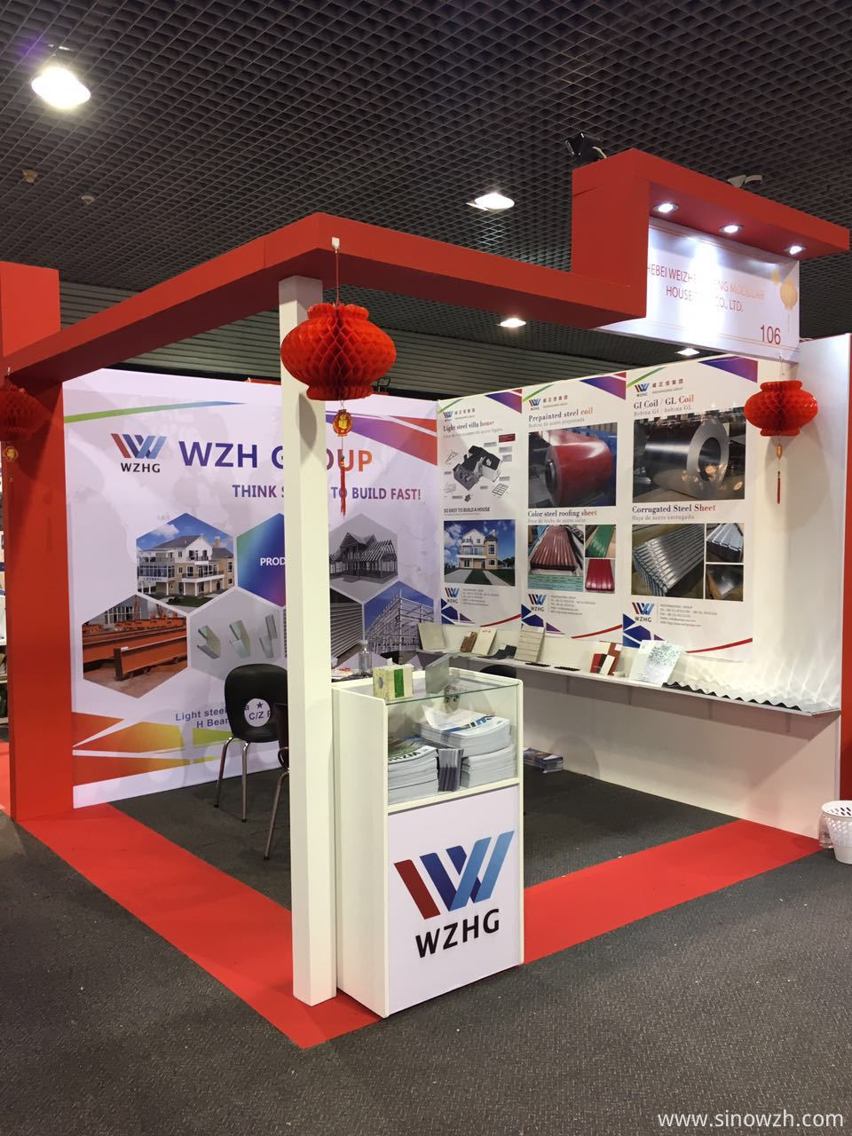 WZH Colombia Exhibition steel coil steel sheet steel structure steel villa prefab house