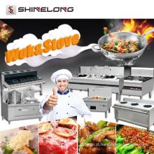 China Commercial Industrial Heavy Duty Kitchen Stand Cozinha de cozinha de aço inoxidável Queimador de fogão elétrico / gás Wok