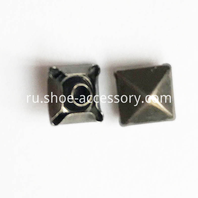 6mm Black Nickel Pyramid Rivets