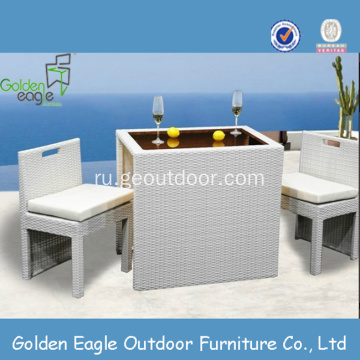 High Quality Outdoor PVC Rattan Furniture Dining Set