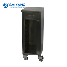 SKH014 Hospital Stainless Steel Medical Trolley For Record Holder
