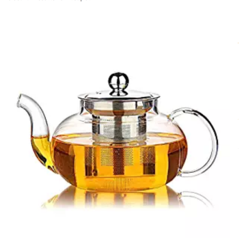 custom borosilicate glass heat resistant large luxury tea set teapot