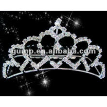 Hot sell wedding bridal tiara comb (GWST12-617)