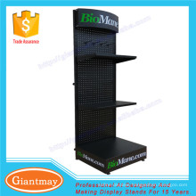 with hooks exposition metal product perforated display stand peg board