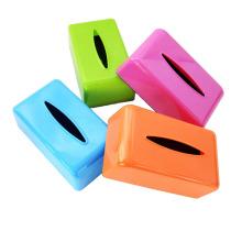 Coloridos rectángulo creativo de plástico caja de tejido