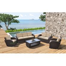 5pcs mobili di vimini all'aperto del giardino del patio di vimini all'aperto