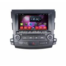 1080p HD 8 pouces écran tactile 2 din dvd gps pour outlander 2006-2011 avec voiture multimédia gps / quad-core android gps avec bt