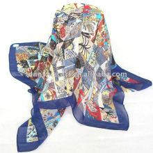 printed chiffon women scarf