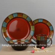 Vaisselle en céramique ronde moderne (ensemble)