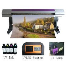 Impresora de inyección de tinta UV multiusos de alta definición de 2.2 metros