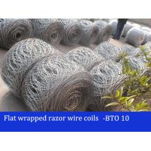 Bto22 / 30 Galvanisé Flat Wrapped Razor Wire Coils