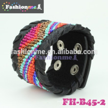 Factory directly wholesale color leather bracelets