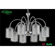 8 Lamps Modern Glass Pendant Light