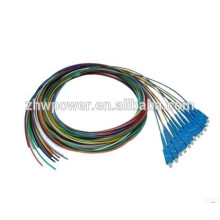 FTTH ONU 12 cores 0.9mm SC fiber optic pigtail cord made in Shenzhen manufacturer