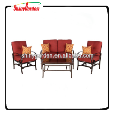 Stock steel coffee set with 8cm spun cushion
