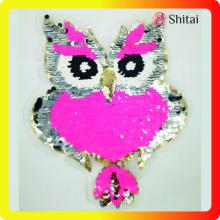 High Quality for Sequin Patches,Sequin Iron On Patches,Sequin Patches For Clothes Manufacturers and Suppliers in China High quality owl  reversible patches export to Poland Exporter