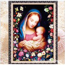 2015 diy wall pictures virgin Mary women canvas art painting 3d art diamond painting