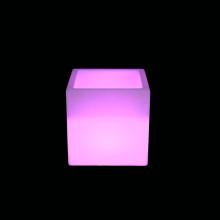 Cubo conduzido exterior e interno plástico moderno