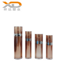 Wholesale full size round Chocolate painting cosmetic acrylic bottle with lotion pump for personal care