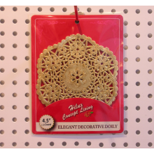 Golden Foil paper doily round 4.5 inch