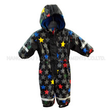 Colourful Star PU Overall for Baby/Children Raincoat
