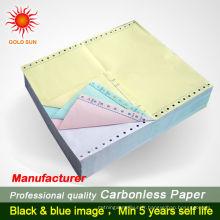 Papier d'impression sans papier de qualité supérieure de papier de copie de 3 copies
