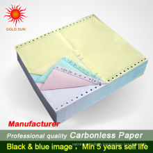 Hight Quality Carbonless Copy Paper 3-Layer Computer Printing Paper