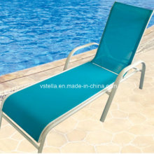 Model Garden Patio Outdoor Wicker Textilene Lounger