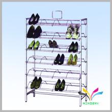 Venda quente de moda livre loja de varejo moda calçado de metal