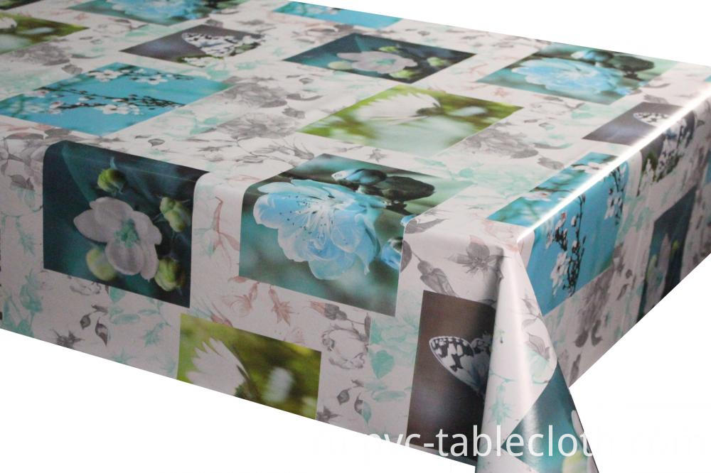 Printed Vinyl Tablecloths with non woven backing