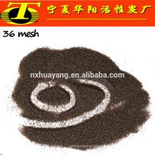 Medios de granallado de aluminio de óxido marrón 36 malla