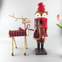 FQ marque artisanat en bois décoratif casse-noisette en bois de Noël