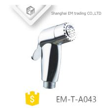 EM-T-A043 ABS polieren Badezimmeranschluss WC tragbare Hand halten Dusche shattaf