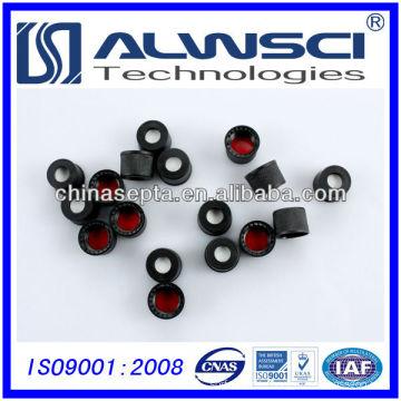 8mm black plastic cap for screw bottle