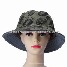 Camuflaje de impresión de la selva de la Mujer Military Sunscreen Army Hats