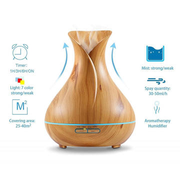 Without Heat Wood Essential Oil Electric Nebulizer 400ml
