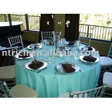 toalha de mesa de cetim verde-azulado