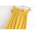 Женская плиссированная длинная юбка с поясом