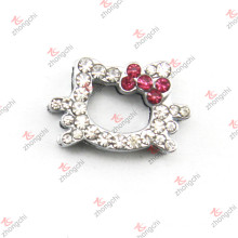 10mm Crystal Kitty Slide Charm for DIY Accessories (JP10)