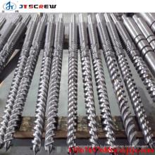 baril à double vis d'extrudeuse en plastique pour extrudeuse de tuyaux