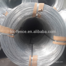 BWG9 High zinc coated 500kg coil hot dipped galvanized wire for producing chain link fence