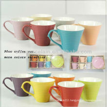 90CC 12 colors option ceramic coffee cup set for BS12014