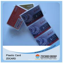 Risco de papel de alta segurança do preço baixo / PVC fora do telefone / cartão de Recharge da pilha