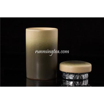 Dark Green Ceramic Tea Canister / Caddy