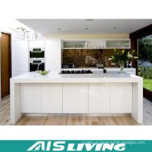 Mobília branca do armário de cozinha da laca do projeto moderno (AIS-k356)