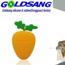 Hot Selling Silicone Carrot Key Bag/Coin Bag