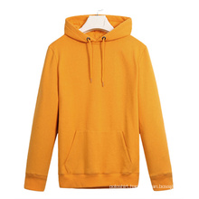 Wholesale Cotton/Polyester Yellow Pullover Sports/Gym Hoodies