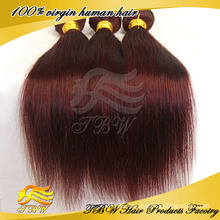 Red color braiding hair 99j hair weave