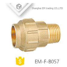 EM-F-B057 Messing Außengewinde und Single Compression Joint Spanien Rohrverschraubung